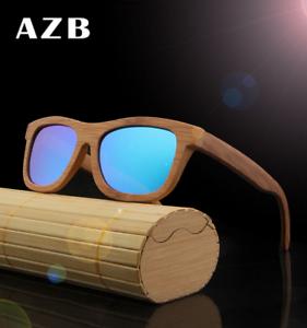 2c5d04f4485 Image is loading Luxury-Unisex-Bamboo-Wooden-Vintage-Polarized-Sunglasses- Wood-