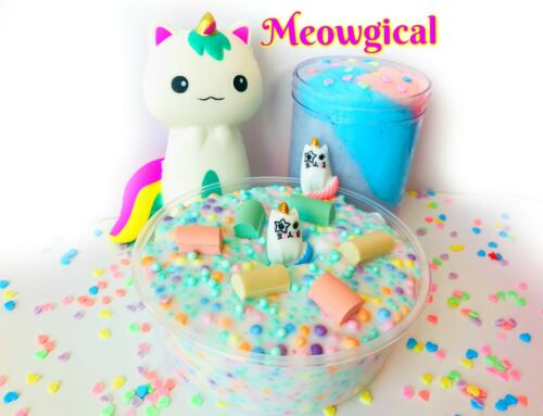 Tons of Free Gifts Nontoxic Meowgical Scented Slime Made in U.S.A