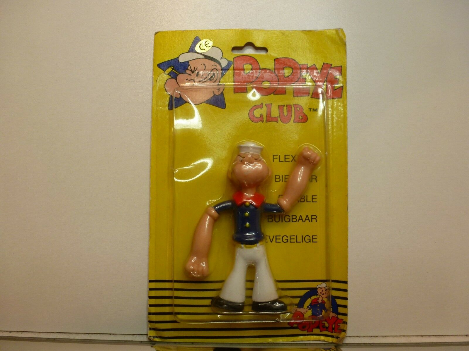 POPEYE CLUB ACTION FIGURE POPEYE - - - H10.5cm - UNUSED ON CARD-BLISTER 41dce6