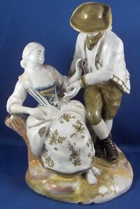 Antique-19thC-French-Italian-Faience-Figurine-Figure-Fayence-Figur-Italy-France