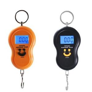 Portable 50kg/5g LCD Digital Fish Electronic Hanging Luggage Weight Hook Scales