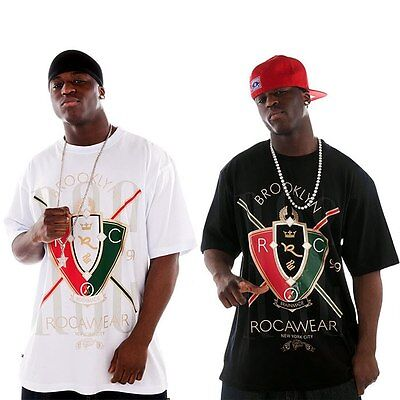 ROCAWEAR MENS BOYS CROWN SUMMER HOLIDAY T-SHIRTS TIME IS HIP HOP MONEY TEE WEAR