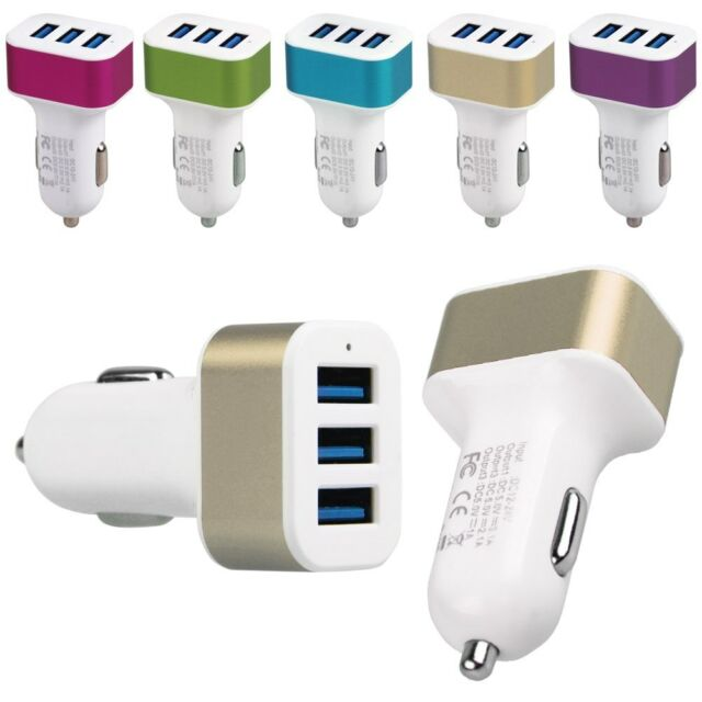 Bullet Charger 3Port 2.1A+2.0A+1A Mini Universal Dual USB Car Adapter High Speed