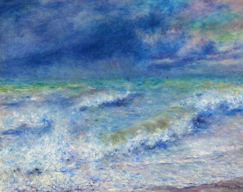 Seascape Pierre-Auguste Renoir Painting Print on Canvas Reproduction Small 8x10