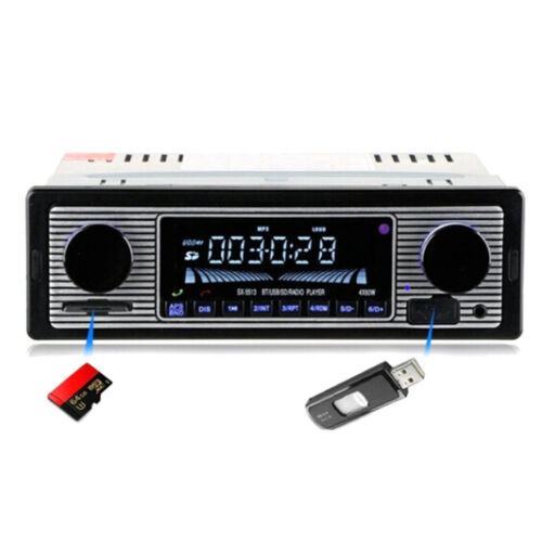 Bluetooth vintage car radio MP3 player stereo usb aux classic car stereo audioYE