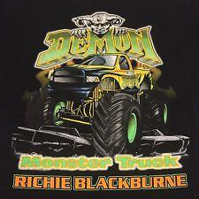 Demon Monster Truck Black Medium T-Shirt 4x4 Mudding Off Road 2-sided Mud