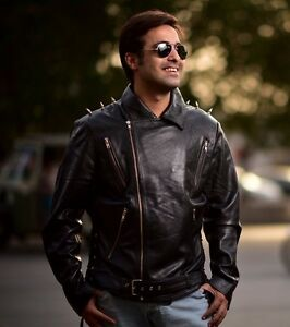 Details about Ghost Rider Movie - Men Biker Leather Jacket