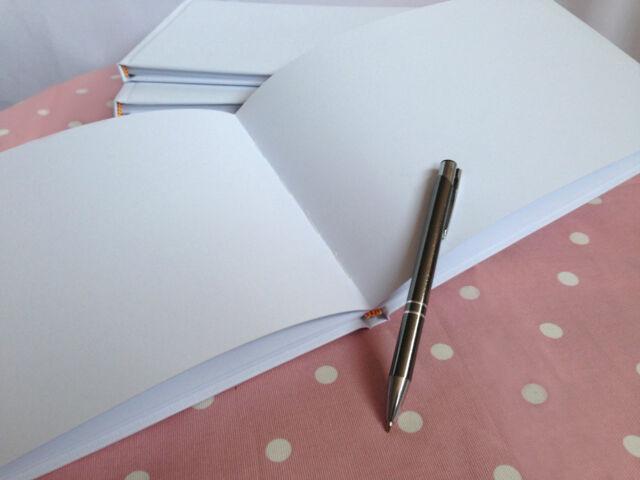 DIY Blank Wedding Guest Book WHITE PLAIN WEDDING GUEST BOOK
