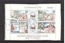 ESPAÑA 1980 ESPAMER´80 EDIFIL 2583 HB USADO