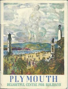 PLYMOUTH-1956-Official-Guide-history-information-illustrated-business-adverts