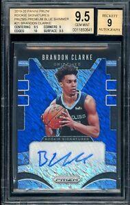 Brandon-Clarke-2019-20-Rookie-Prizm-Premium-Blue-Shimmer-AUTO-BGS-9-5