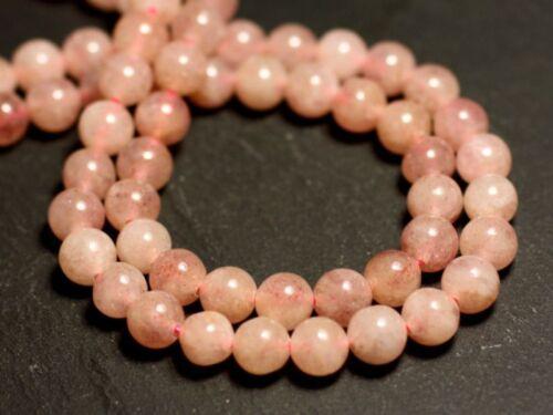 Quartz Hématite Hématoide Rose Boules 6mm 10pc 8741140015 Perles de Pierre