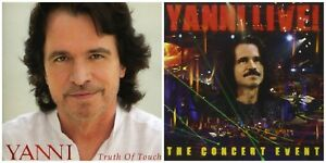 2-YANNI-CDs-LOT-Truth-Of-Touch-amp-Live-The-Concert-Event-BRAND-NEW-amp-SEALED