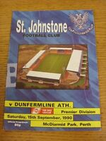 15/09/1990 St Johnstone v Dunfermline Athletic  (the item is in good/very good c