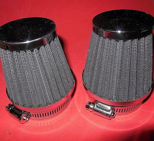 2 AIR FILTERs KZ440 XS400 UNIVERSAL INDIVIDUAL POD FILTER 54MM ID