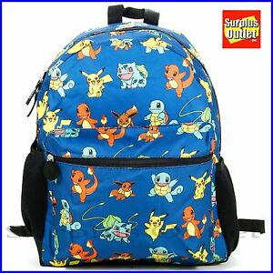 99189d3f2011 Image is loading Pokemon-Backpack-16-034-Large-School-Backpack-Book-