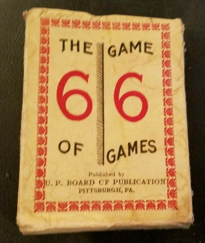 Vintage Bible Card Game The Game of Games 66 - UP Board CF Publ Pittsburgh PA