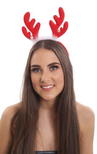 Ladies Christmas Headbands Hat Fancy Dress Hat Reindeer Antlers With Bell Santa