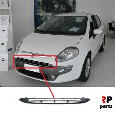 Fiat Punto Evo 2010-2012 Front Upper Centre Grille Mat-Black New High Quality