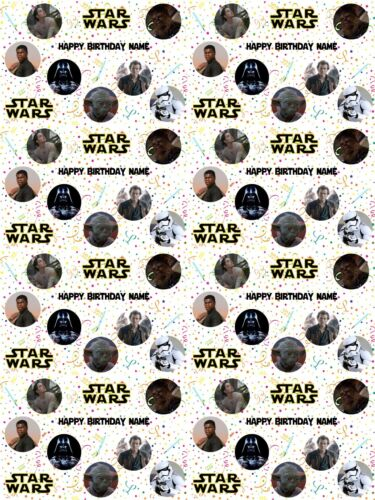 Star Wars Personalised Birthday Gift Wrapping Paper ADD NAME//S CHOOSE BACKGROUND