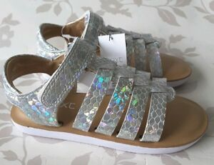 Girls Sandals Size 9 NEXT BNWT Silver