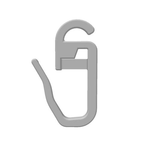 GARDINEUM Gardinenzubehör 100 x  Faltenhaken// Gardinenhaken  m 3 mm Öse