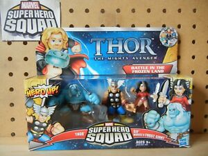 Marvel Super Hero Squad THOR 3-PK BATTLE IN THE FROZEN LAND w// SIF /& FROST GIANT