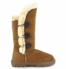 item 5 Womens Ella Shoes Whistler Boots Winter Tall Faux Suede Fur Grey  Chestnut Button -Womens Ella Shoes Whistler Boots Winter Tall Faux Suede  Fur Grey ... f88354ea0b1