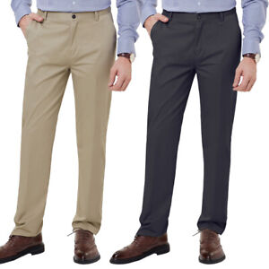 mens gents formal trousers casual office smart business