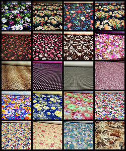 Print Swimwear Stretch Lycra Spandex Fabric Material Dancewear 2 Way ...