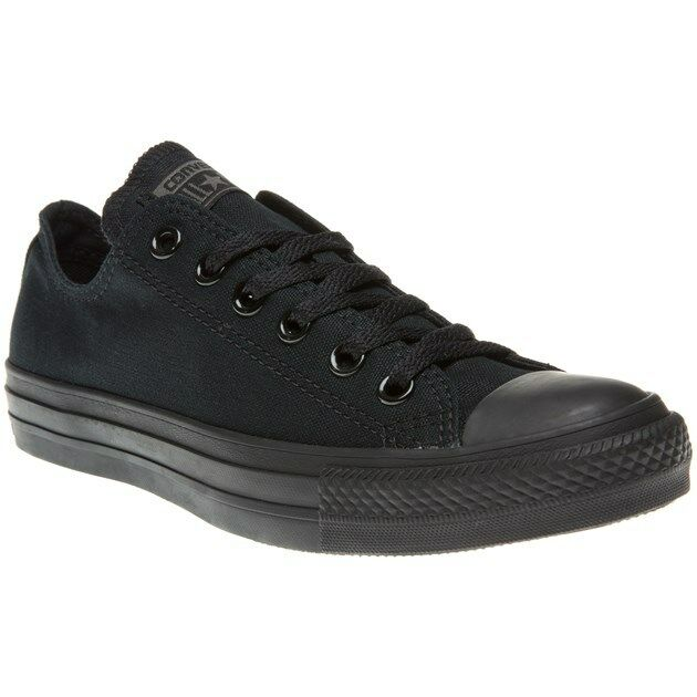 New Hombre Converse Negro Trainers All Star Ox Canvas Trainers Negro Lace Up aa5632