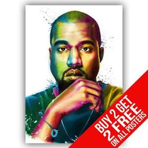 a6a9085ac0cb5 Details about KANYE WEST POSTER ART VINYL PRINT A4 A3 SIZE - BUY 2 GET ANY  2 FREE