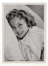 "Shirley Temple 1937 Union Dresden Film Star Series 7 5""X7"" Cigarette Photo Card"