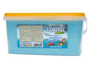 Sel de réservoir de poissons d'aquarium tropical Sanital avec filtre UV à l'aloès ~ seau 3l / 3,6kg ~