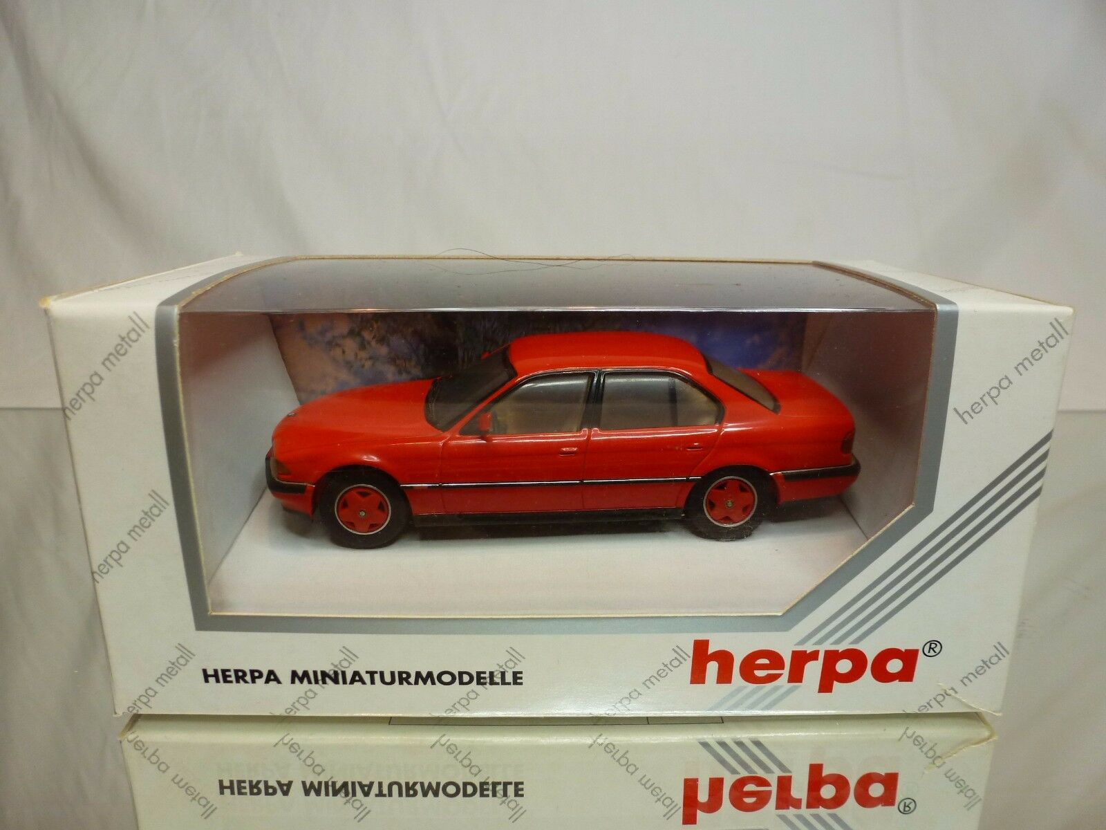 HERPA 70225 BMW 740i - E38 - red 1 43 - VERY GOOD IN BOX