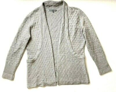 Brixon Ivy Gray Long Cardigan Sweater Textured Knit XL Open Front | eBay