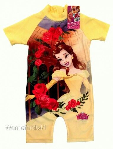 18mths-5yrs Girls BEAUTY AND THE BEAST Surf suit swimming costume swimsuit
