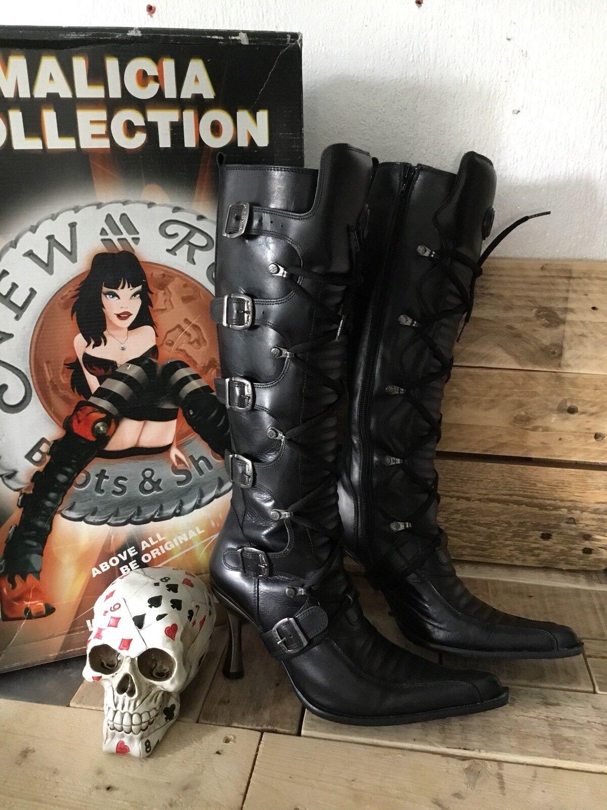 Zapatos especiales con descuento New Rock Ladies Boots Malicia Collection Boxed Size 5.5 Euro 38 Stiletto Shoes