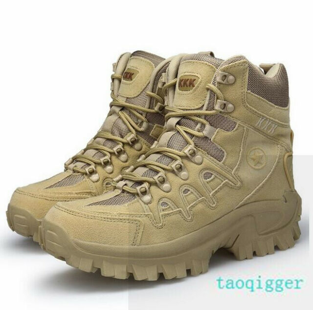 7035c84b243 Mens High Top Military Tactical Boots Desert Army Hiking Combat Ankle Boots  US