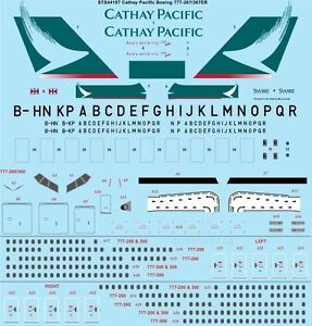 26Decals 1/144 Boeing 777 series  - Cathay Pacific decal