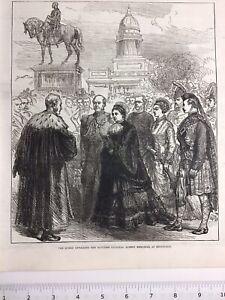 QUEEN-VICTORIA-Unveiling-Albert-Memorial-ED-1876-Original-Antique-Print
