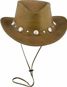 Pelle Cappelli Cowboy Western Stile Cespuglio Cappelli Qualità Top