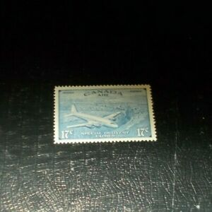 Canada-Back-Of-The-Book-CE-3-Airmail-Mint-Gum-Disturbance-17-Cent-Stamp