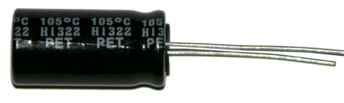 1-2200uf 2200ufd//10V Volt Hi Temp Radial Nichicon Electrolytic Capacitor