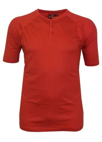 Metaphor Pure Cotton Grandad Three Button T Shirt in Size XL to 8XL