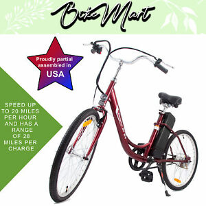 Battery Powered Bicycles >> Details About 2017 Yt Electric Beach Cruiser Bicycle Battery Powered E Bike 24 V 250 W 24 In