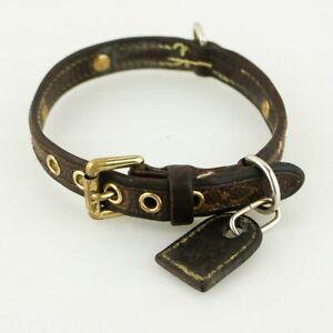 Auth-LOUIS-VUITTON-COLLIER-BAXTER-PM-Monogram-Dog-Collar-M58072-Brown