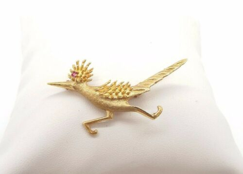 ~A Little Kitschy~ 14k Vintage Road Runner Pin w/