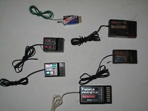 Lot Of 6 Hitec 8 Channel Fm Receivers 4 Ch 7 Ch Cual Futaba Micro Dss Ebay