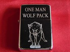 Wolf Engraved / Impact Printed Fuel STAR Lighter With Gift Box